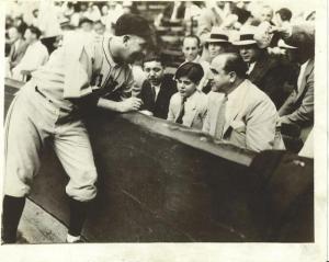 Al Capone at a Baseball Game